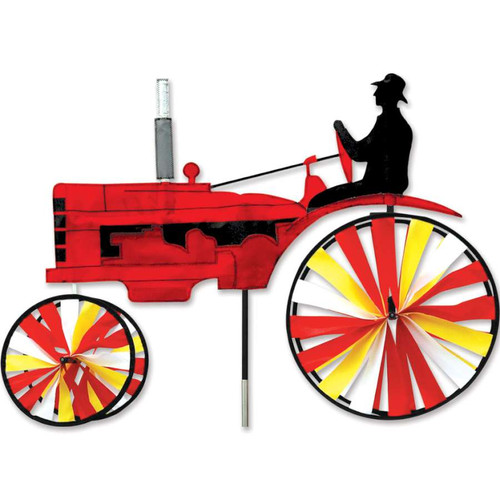 29 Inch Red Old Tractor Wind Spinner