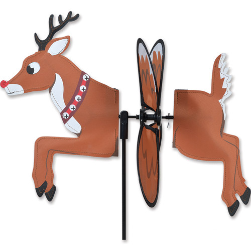 16 Inch Petite Rudolph the Red Nose Reindeer Wind Spinner