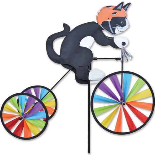 19 Inch Tuxedo Kitty Cat Tricycle Wind Spinner