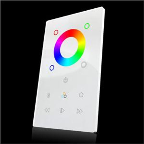 DMX Touch Panel RGB/RGBW Controller Fits Single Wall Gang Plate
