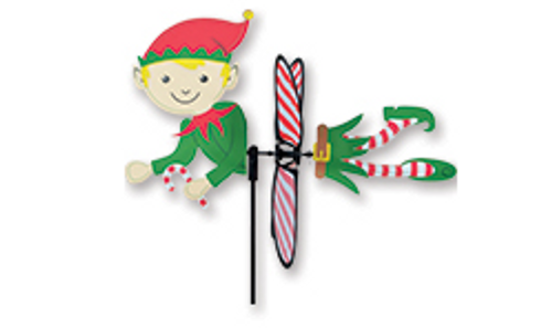 16 Inch Petite North Pole Christmas Elf Wind Spinner