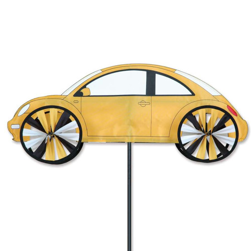 24 Inch Yellow VW Beetle Car Wind Spinner