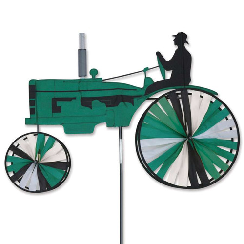 38 Inch Green Tractor Wind Spinner