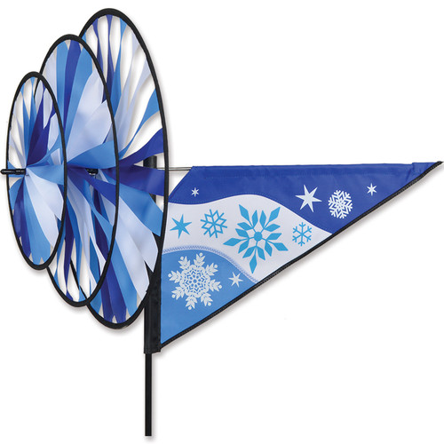 33 Inch Cool Snowflake Triple Wind Spinner