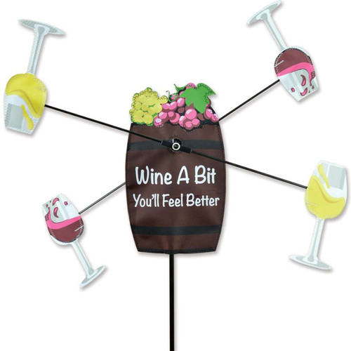 21 Inch Wine A Bit More WhirliGig Wind Spinner