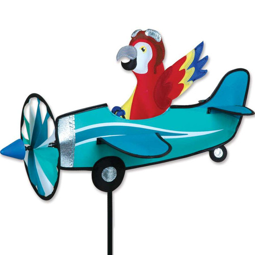 19 Inch Parrot Pilot Pal Airplane Wind Spinner
