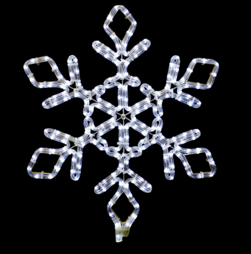 21 Inch Cool White LED Lighted Snowflake Light
