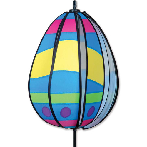 19 Inch Wavy Yellow Easter Egg Wind Spinner