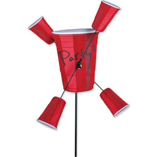 20 Inch Red Solo Party Cups WhirliGig Wind Spinner
