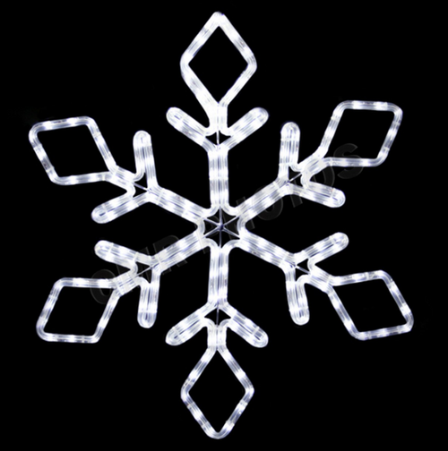 22 Inch LED Lighted Cool Snowflake Light