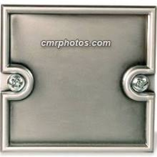 """2.25"""" x 2.25"""" Channel Silver Molded End Cap"""