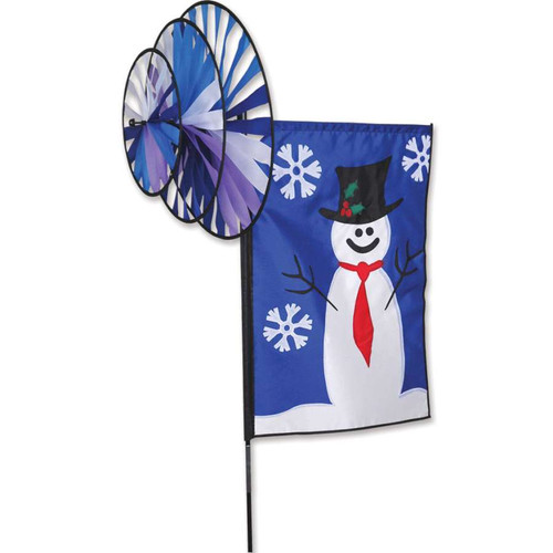 24 Inch Frosty The Snowman Triple Wind Spinner Banner