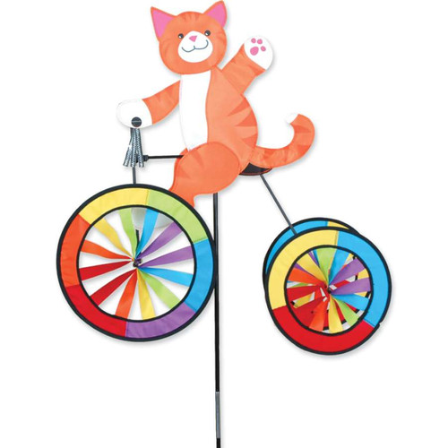 25 Inch Cat Tricycle Wind Spinner