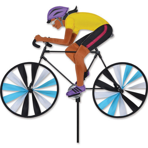 22 Inch Woman Riding Bike Wind Spinner