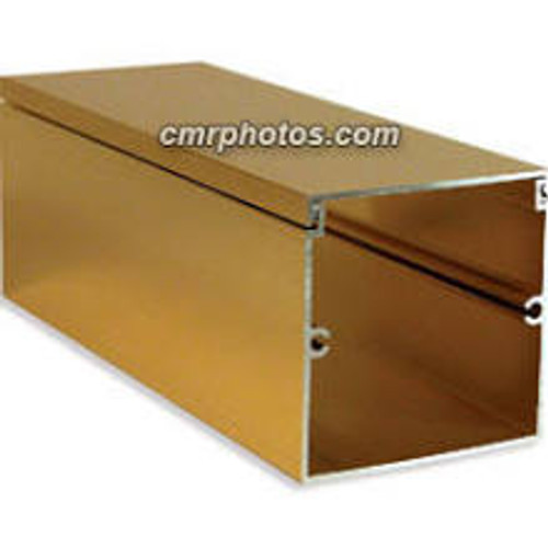 Gold Anodized Aluminum Channel 8 Foot Section