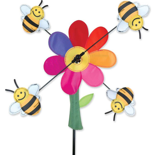 13 Inch Bumble Bees WhirliGig Wind Spinner