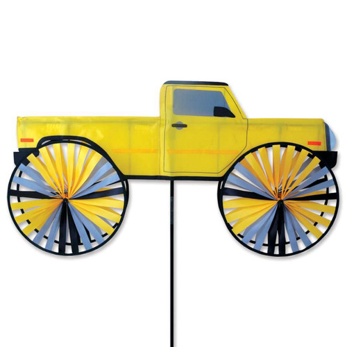41 Inch Yellow Pick Up Truck Wind Spinner