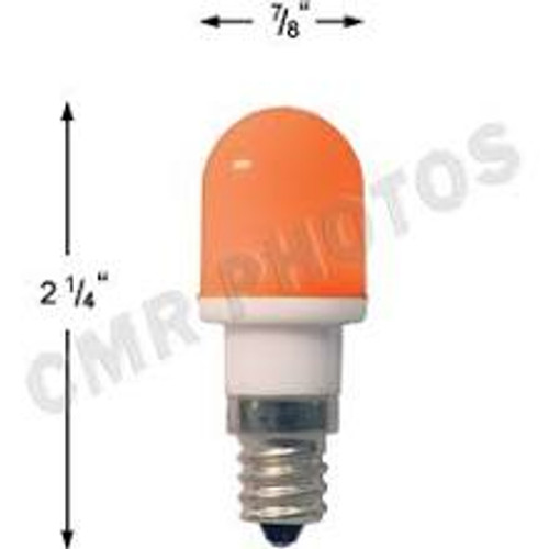 .7 watt T5 Led Amber candelabra base 25 bulb pack