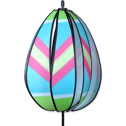 19 Inch Green and Pink Easter Egg Wind Spinner