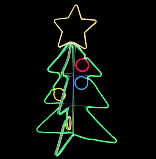 3 Foot 3 Dimensional LED Neon Lighted Christmas Tree