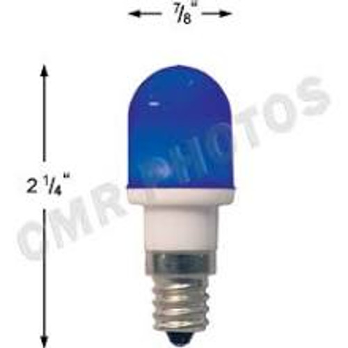 .7 watt T5 Led Blue candelabra base 25 bulb pack