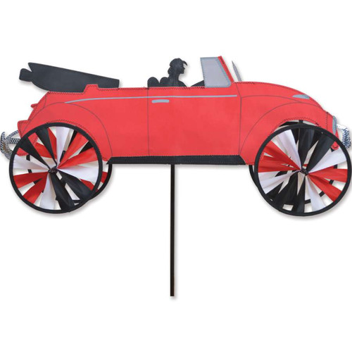 26 Inch Red VW Convertible Car Wind Spinner