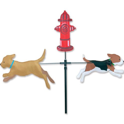 59 Inch Carousel Two Dog Wind Spinner