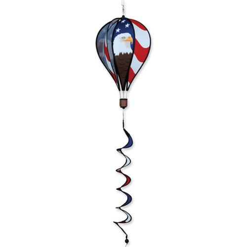 16 Inch Patriotic Bald Eagle Hot Air Balloon Wind Spinner