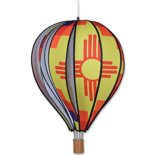 22 Inch New Mexico Hot Air Balloon Wind Spinner