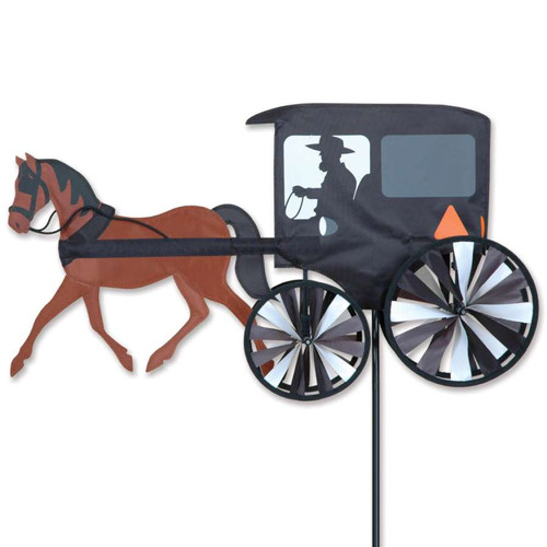 26 Inch Amish Horse and Buggy Wind Spinner