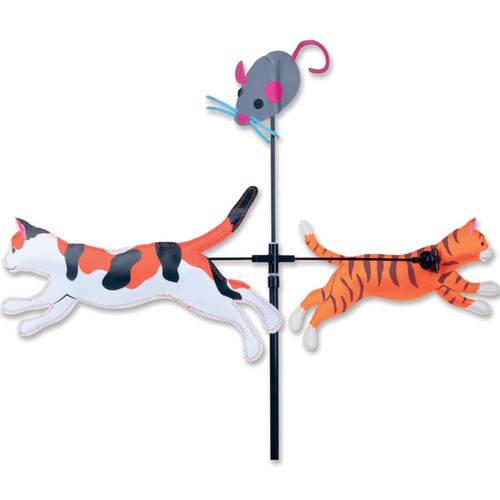 59 Inch Cats Single Carousel Wind Spinner