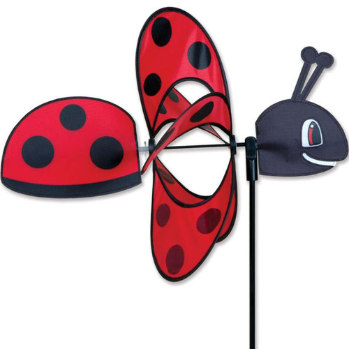 18 Inch Ladybug Whirly Wing Wind Spinner