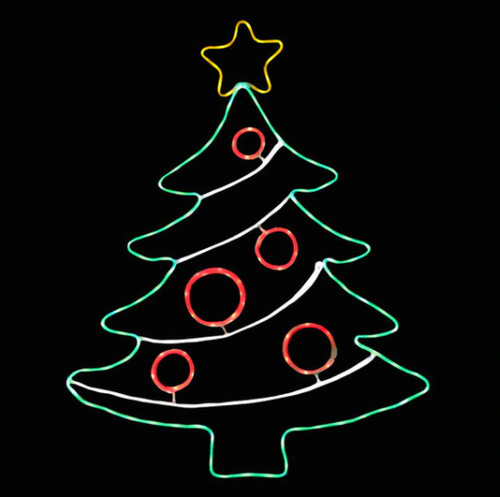27 Inch Led Neon Christmas Tree