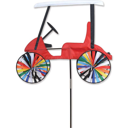 34 Inch Red Golf Cart Wind Spinner
