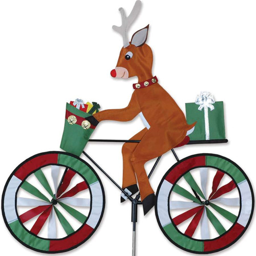 30 Inch Rudolph the Red Nose Reindeer Riding Bike Wind Spinner