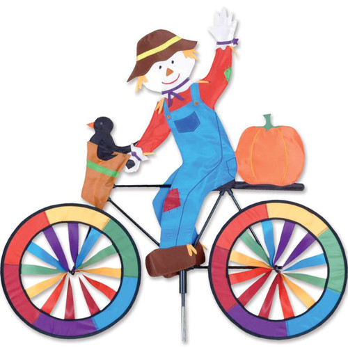 30 Inch Scarecrow Bike Wind Spinner