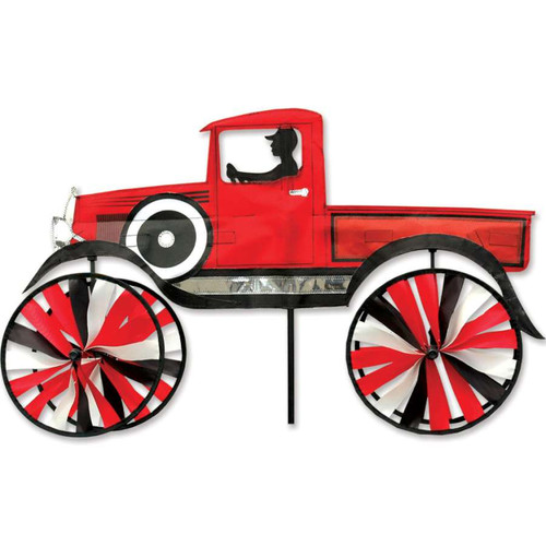 29 Inch Red Old Time Truck Wind Spinner