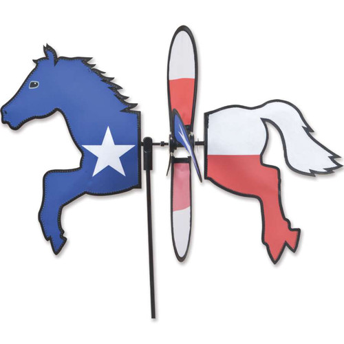 19 Inch Texas Horse Petite Wind Spinner