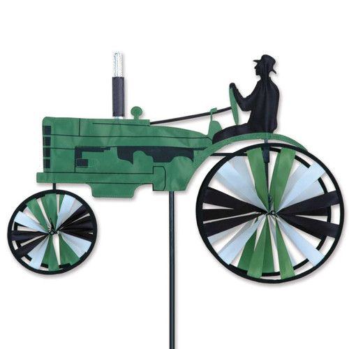 23 Inch Green Old Tractor Wind Spinner