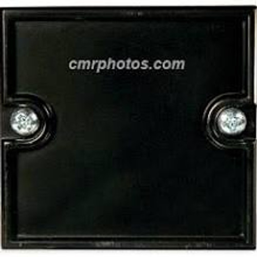 "2.25"" x 2.25"" Channel Black Molded End Cap"