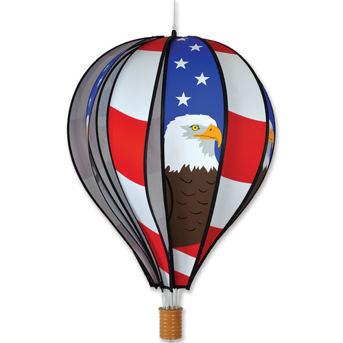 22 Inch Patriotic Bald Eagle Hot Air Balloon Wind Spinner