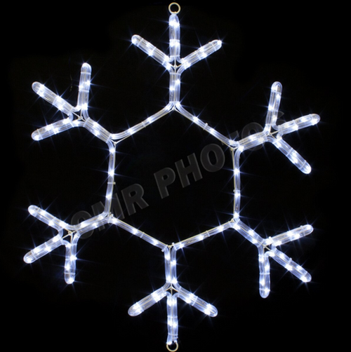 24 Inch LED Lighted Really Cool Snowflake Light