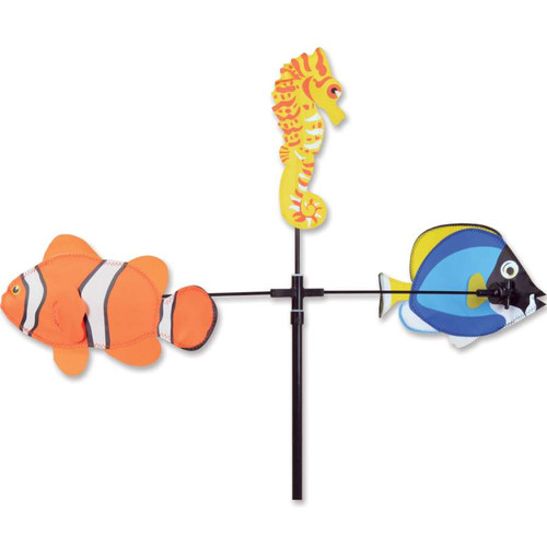 59 Inch Fish Single Carousel Wind Spinner