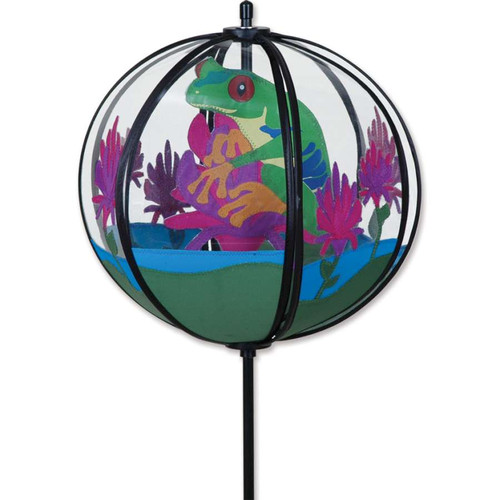10 Inch Tree Frog Ball Wind Spinner