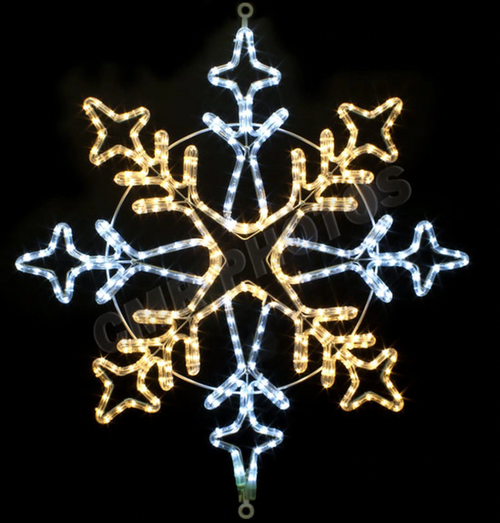 31 Inch LED Lighted Warm White Snowflake Light