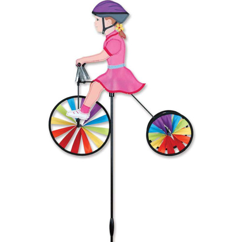 19 Inch Girl Tricycle Wind Spinner