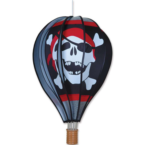 22 Inch Jolly Roger Pirate Hot Air Balloon Wind Spinner