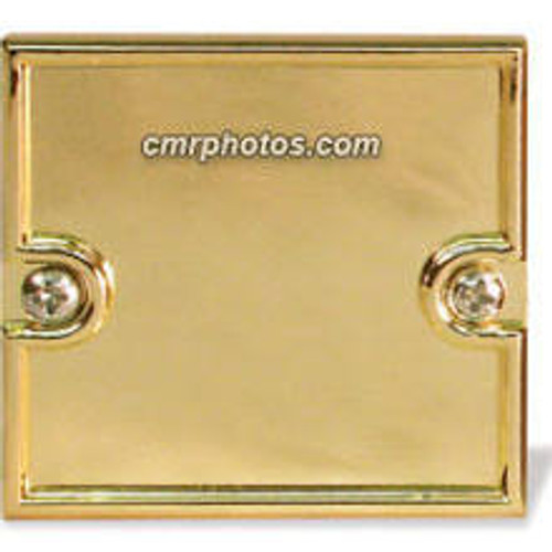 "2.25"" x 2.25"" Channel Gold Molded End Cap"
