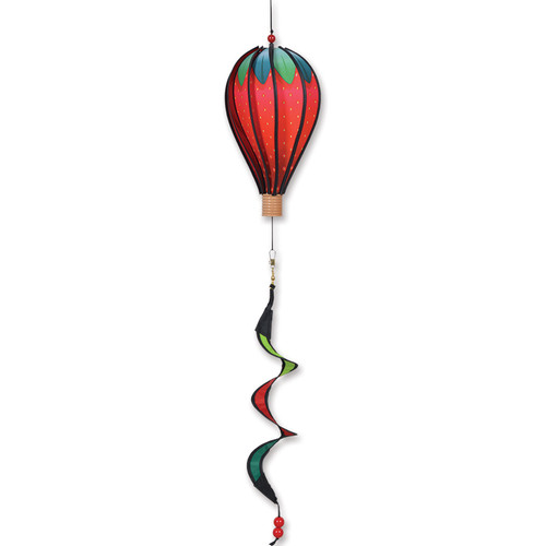 12 Inch Giant Strawberry Hot Air Balloon Wind Spinner