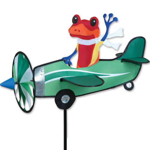 19 Inch Pilot Pal Poison Dart Frog Airplane Wind Spinner